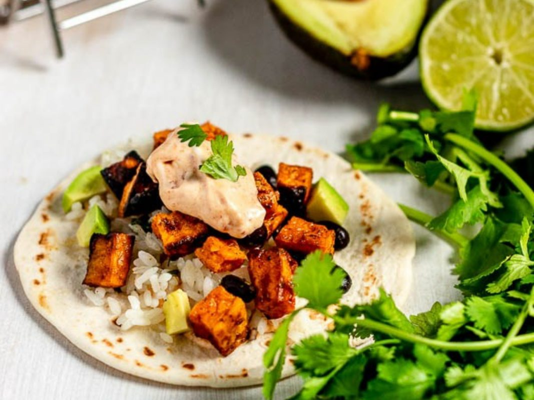 Vegan Spicy Sweet Potato and Black Bean Tacos