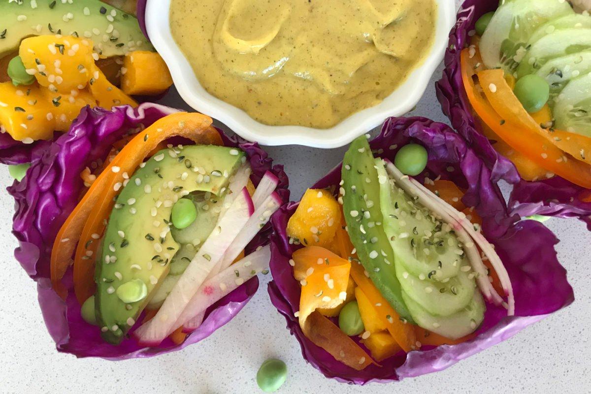 Mango Lime Cabbage Tacos
