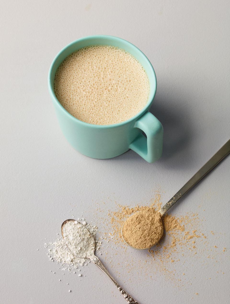tahini maca latte