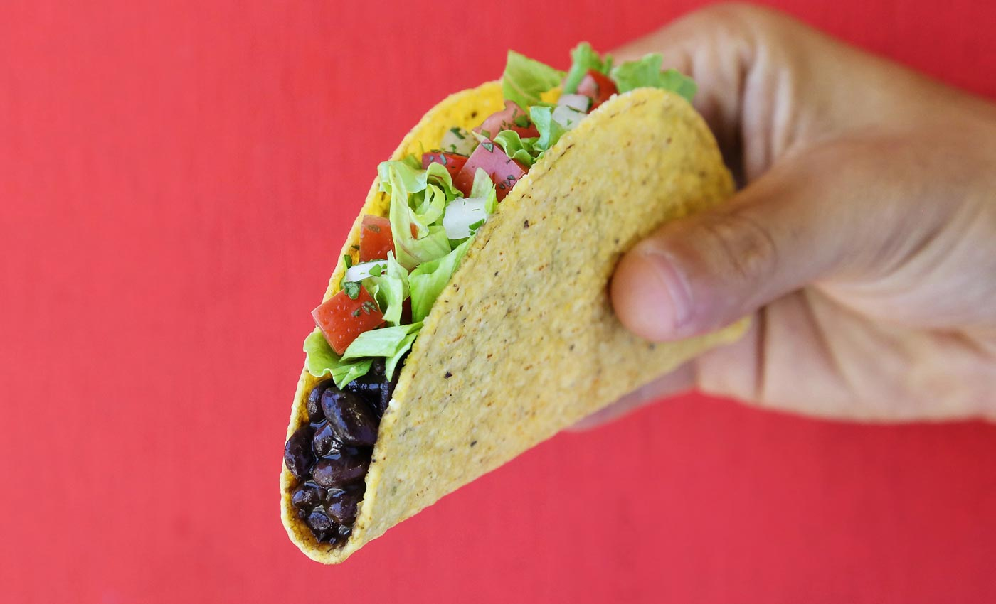 Taco Bell black bean taco
