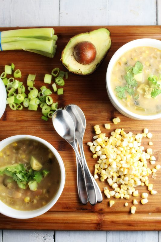 Creamy Vegan White Chili with Corn and Cannellini Beans