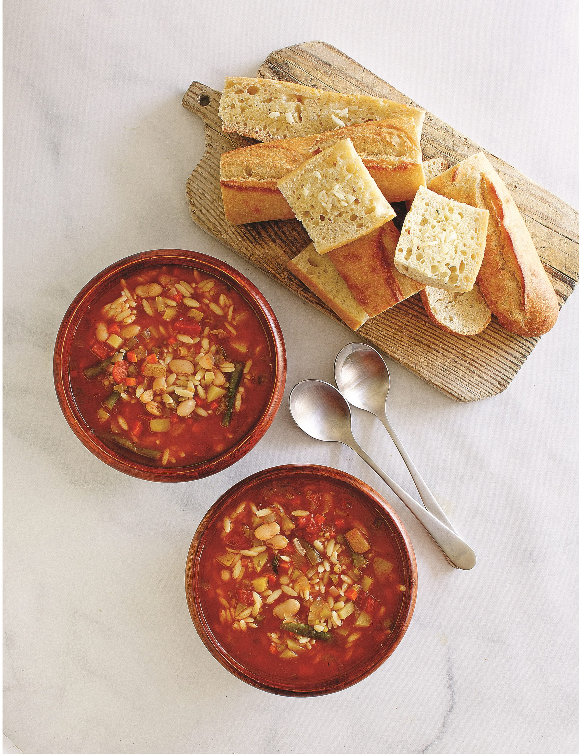 White Bean and Orzo Minestrone
