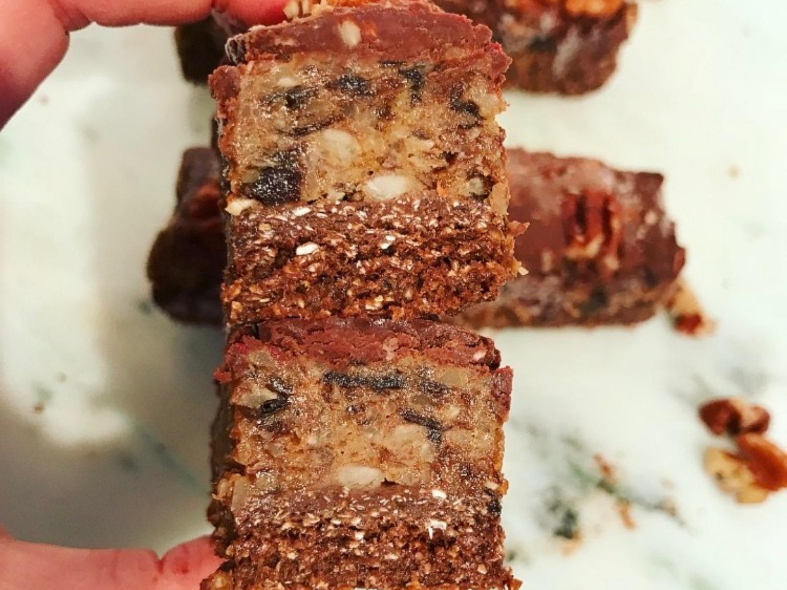 Chocolate Pecan Praline Bar