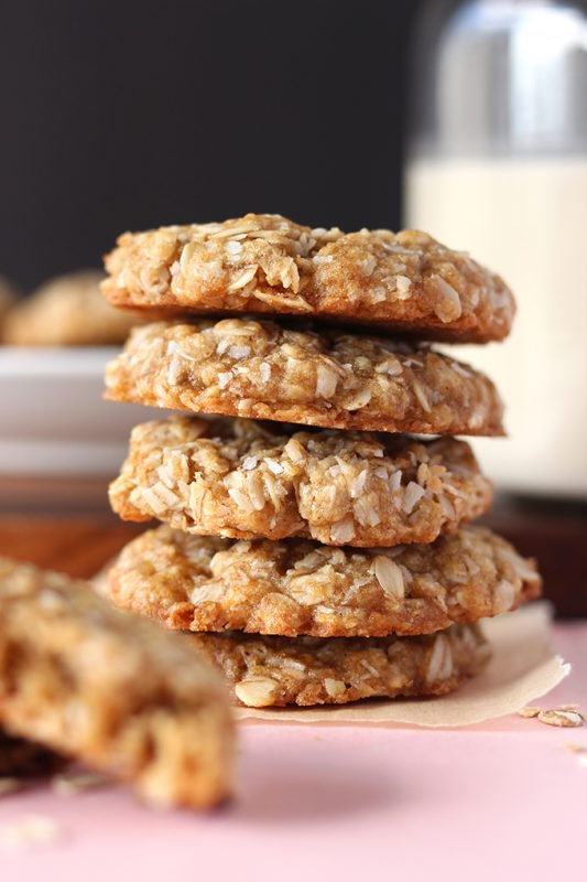 Easy one-bowl coconut oatmeal cookies