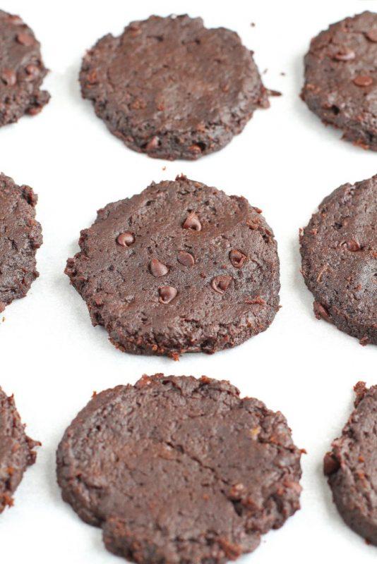 chocolate fudge cookeis vegan gluten free