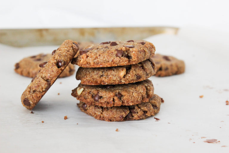 almond chocolate chip cookies vegan gluten free