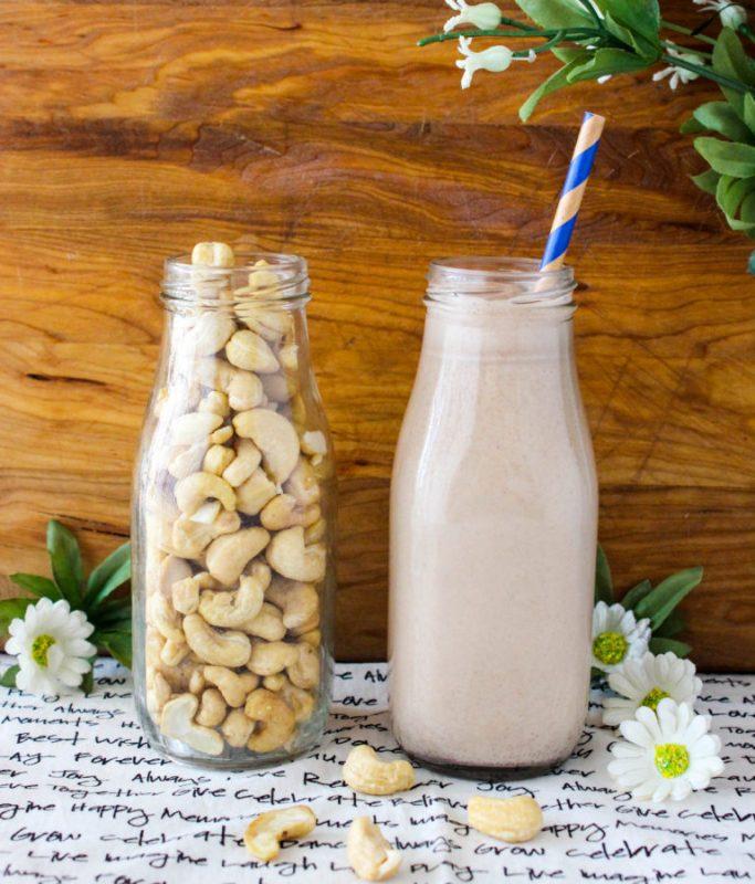 Vegan Chocolate Hazelnut Cashew Milk