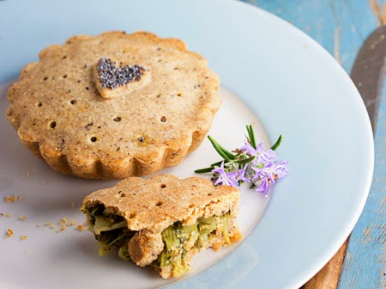 Buckwheat Pies With Chicory and Olives