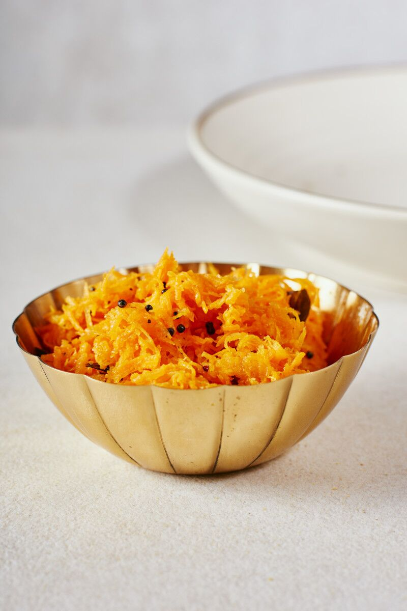 Mustard Seed and Curry Leaf Carrot Salad