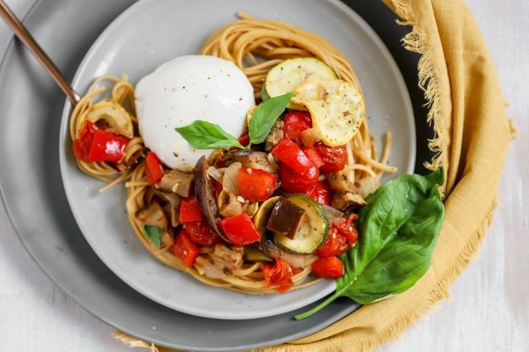 Vegetable Ratatouille with Pasta