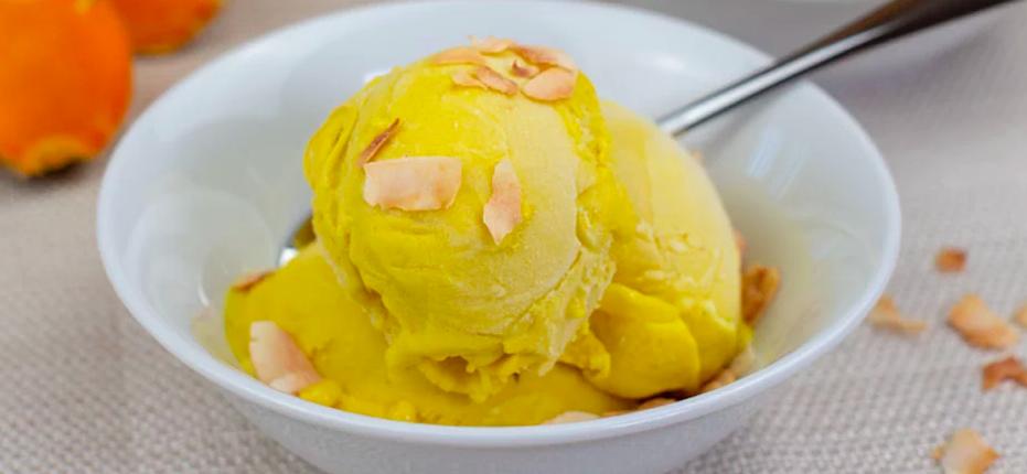 Dairy-free turmeric ginger ice cream