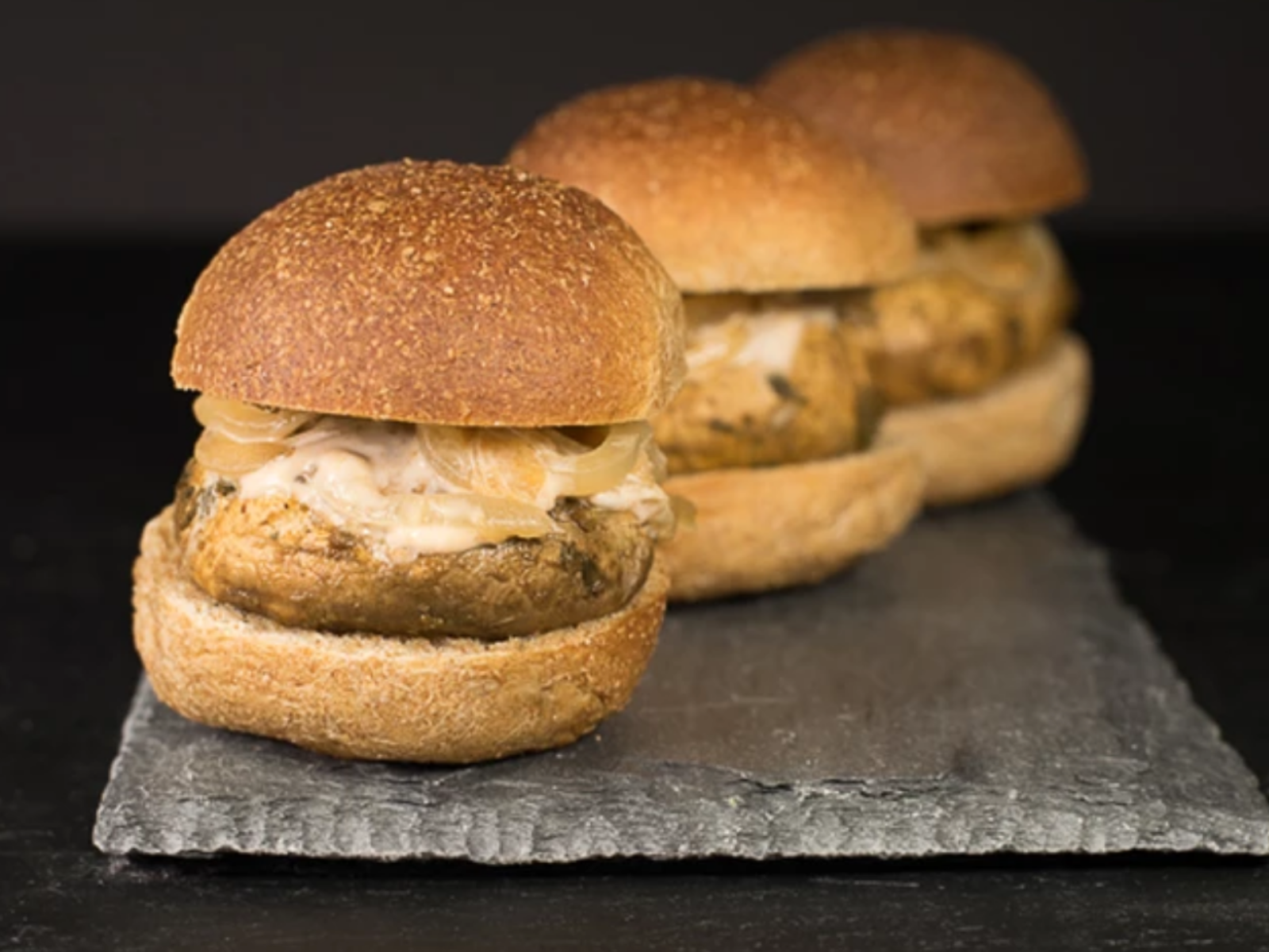 Vegan Marinated Mushroom Sliders