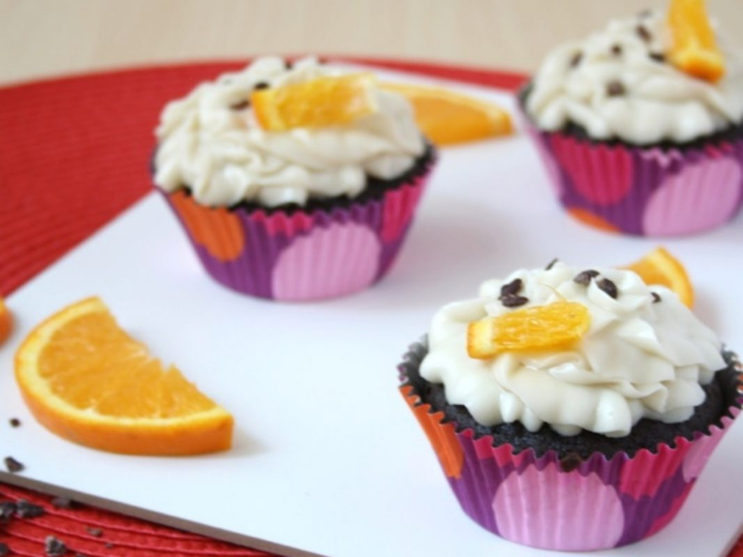 Grand Marnier Orange Chocolate Cupcakes