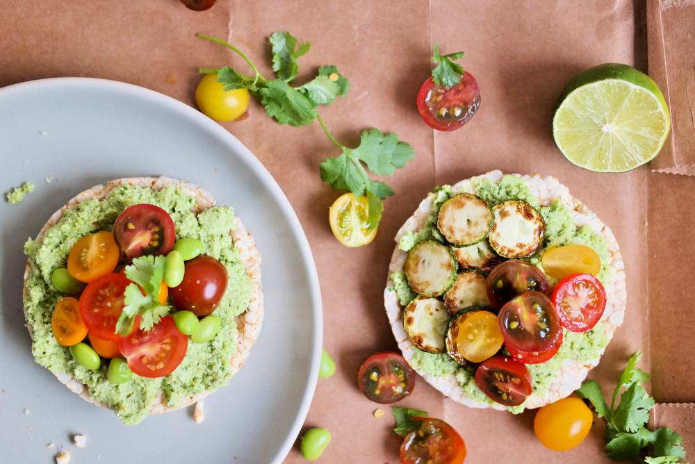 Vegan edamame guacamole