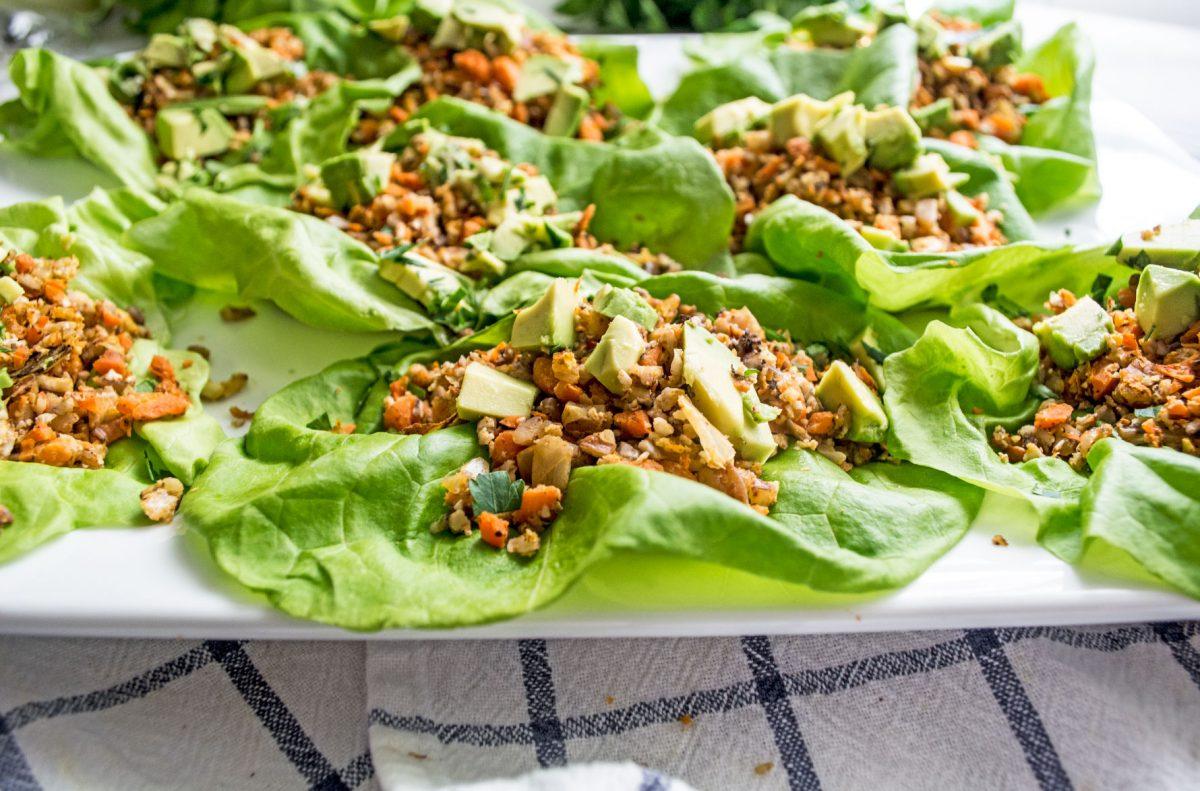 Vegan Green Goddess Mexican Lettuce Wraps