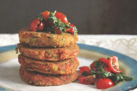 Cornmeal Zucchini Pancakes