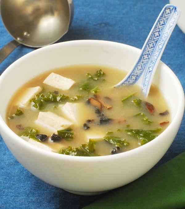 Mushroom Kale Miso Soup