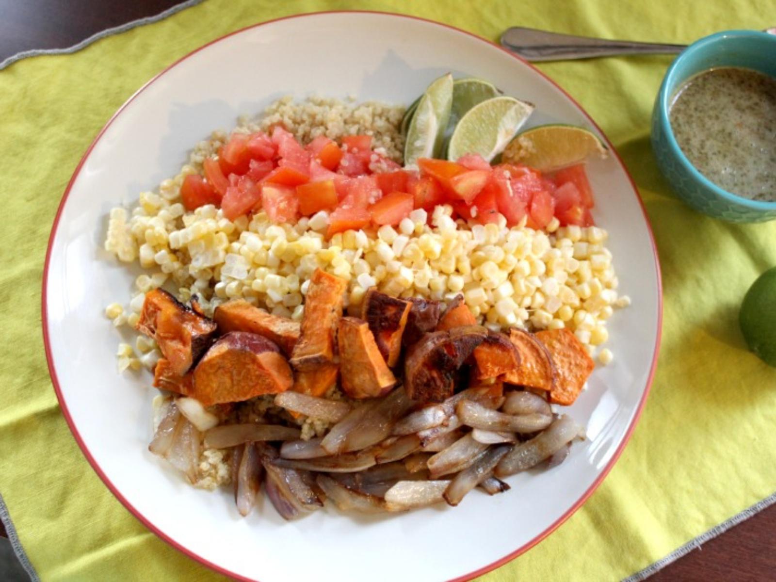 Vegan Sweet Corn and Potato Mexican Salad