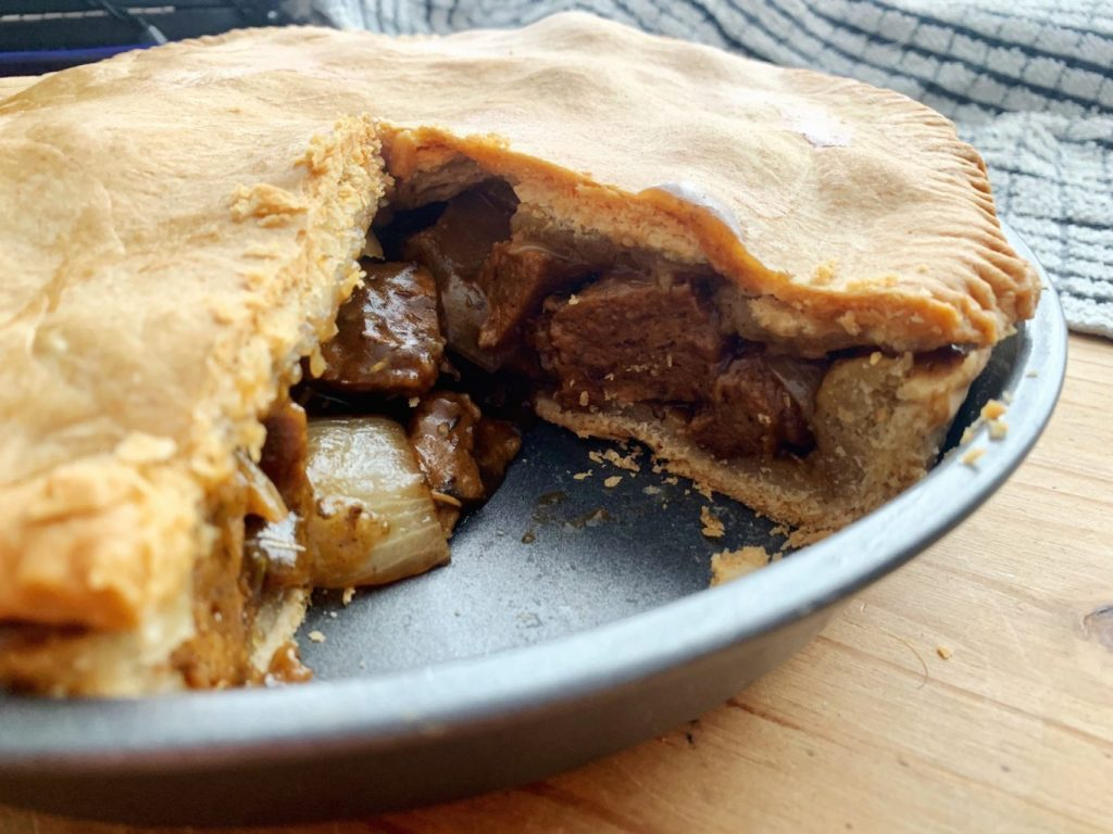 Seitan Steak and Mushroom Pie
