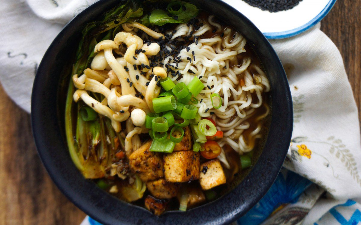 Miso Ramen Bowl With Tellicherry Black Pepper Tofu