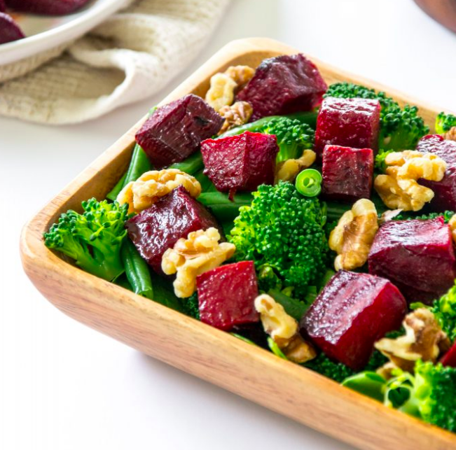 Roasted Beetroot, Broccoli and Green Bean Salad