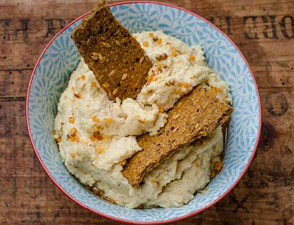 Hummus with Macadamia Dukkah