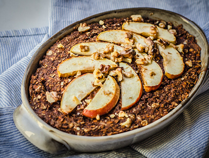 Baked Carrot, Apple and Chocolate Oatmeal