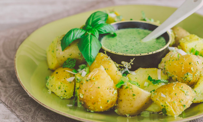 Warm Potato Salad with Green Herb Dressing