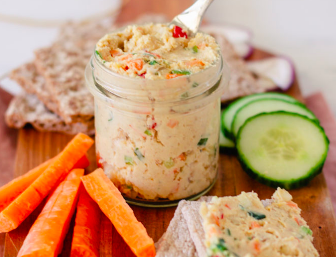 Smoked Tofu and Chickpea Spread