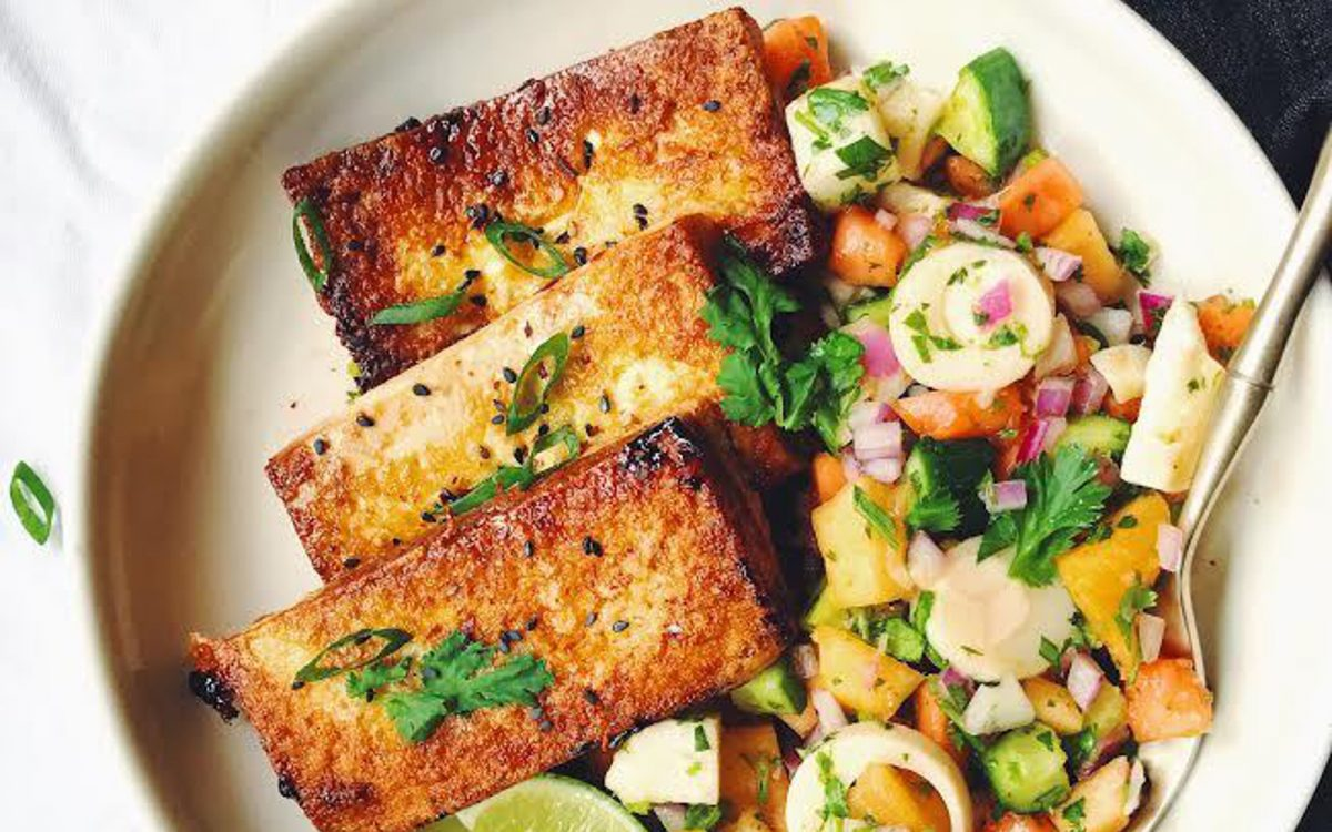 Tropical Ceviche and Tangy Tofu