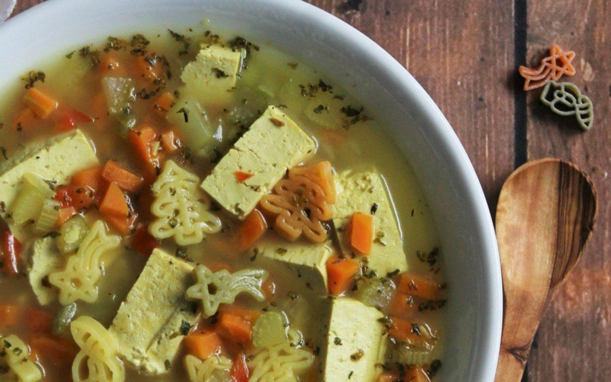 Healthy Chick'n Noodle Soup