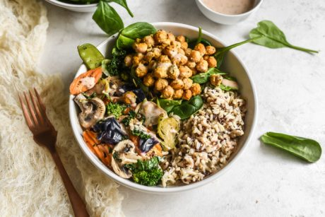 whole food plant based lunch and dinner bowls