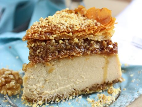 maple baklava cheesecake