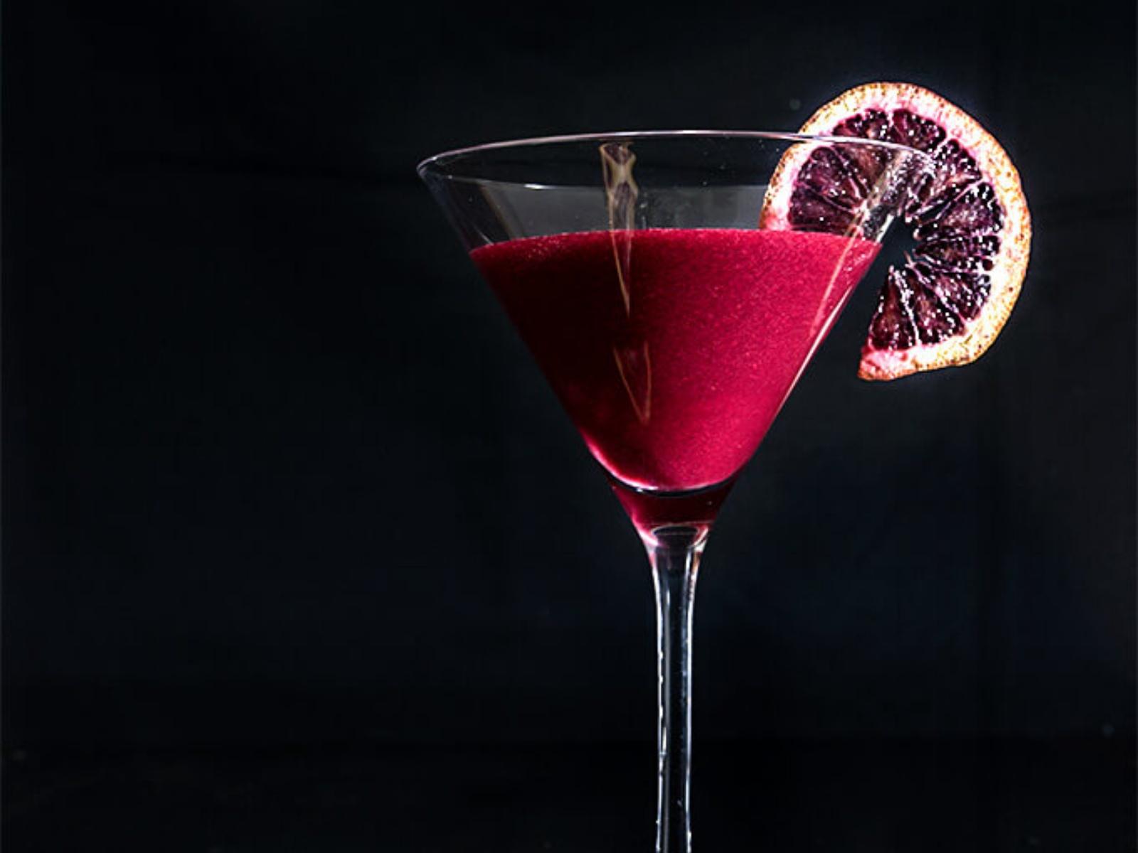 Vegan Blood Orange Berry Cocktail