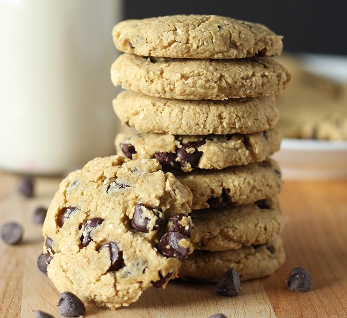 Chickpea Chocolate Chip Cookies Vegan Gluten Free Oil Free