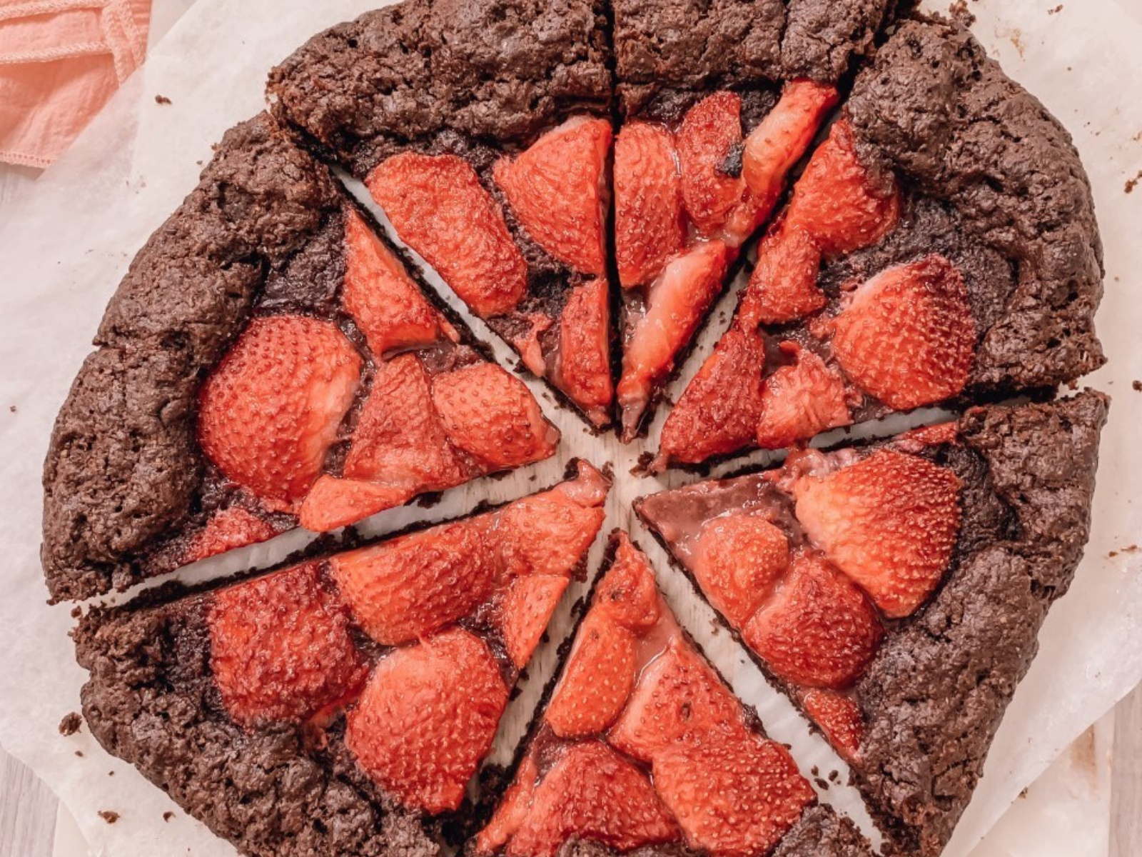 Vegan Chocolate and Strawberry Galette