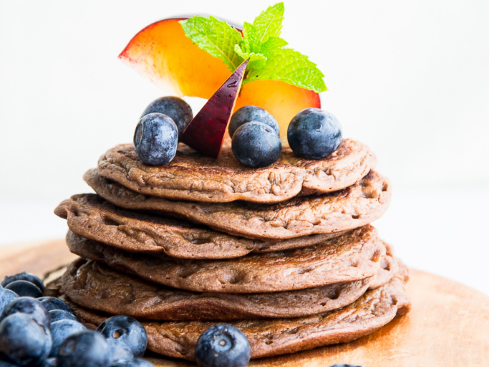 Vegan Chocolate Banana Pancakes