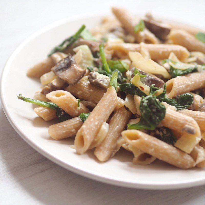 Vegan Mushroom and Herb Pasta