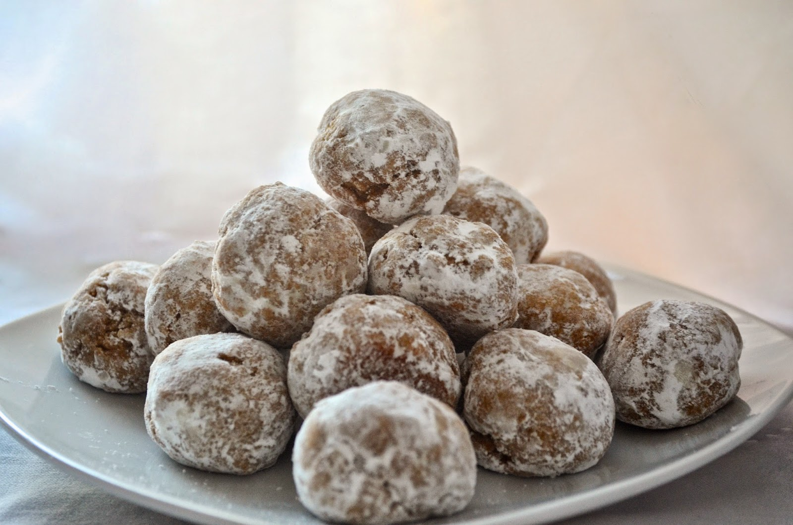 Vegan Peanut Butter Coffee Snowball Cookies