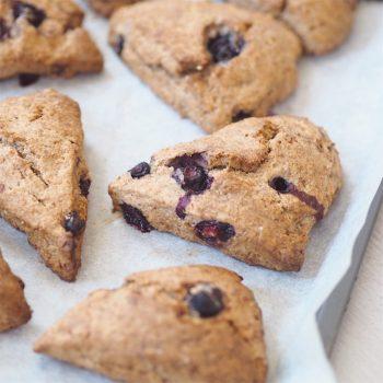 vegan healthy blueberry scones