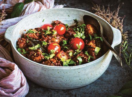 Tamarind Potato Curry with Sesame Seeds