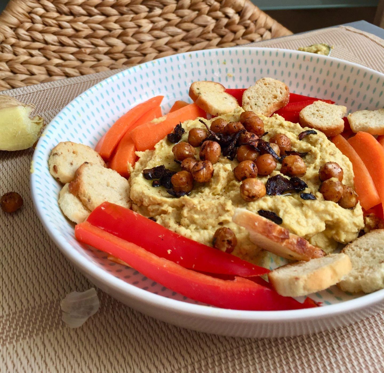 Vegan Turmeric and Ginger Hummus