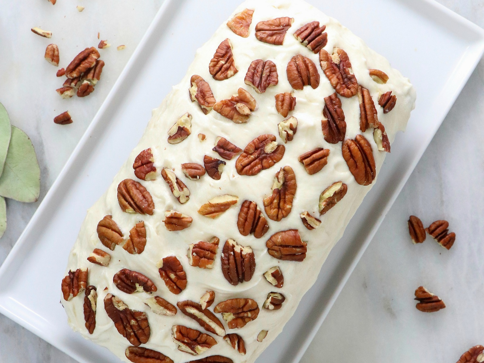 Vegan Carrot Cake Bread With Cream Cheese Icing