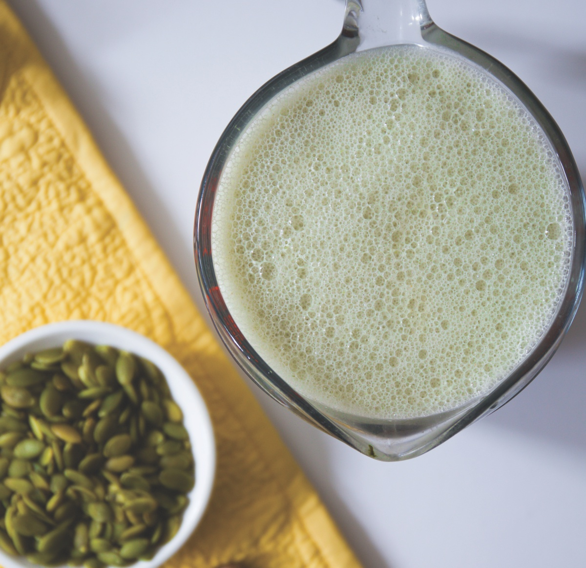 Homemade pumpkin seed milk