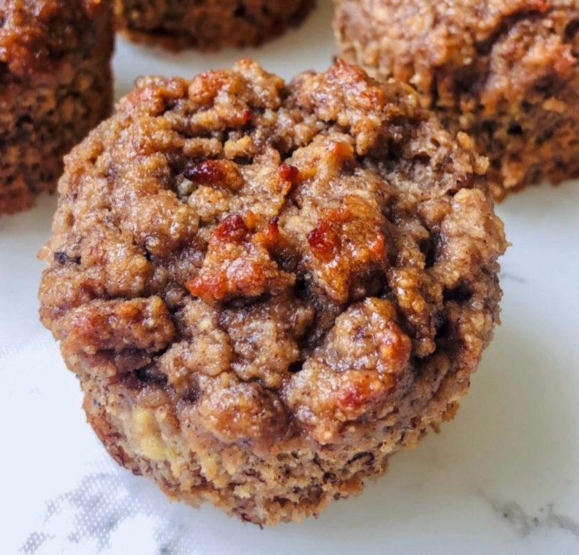 Vegan banana tahini muffins