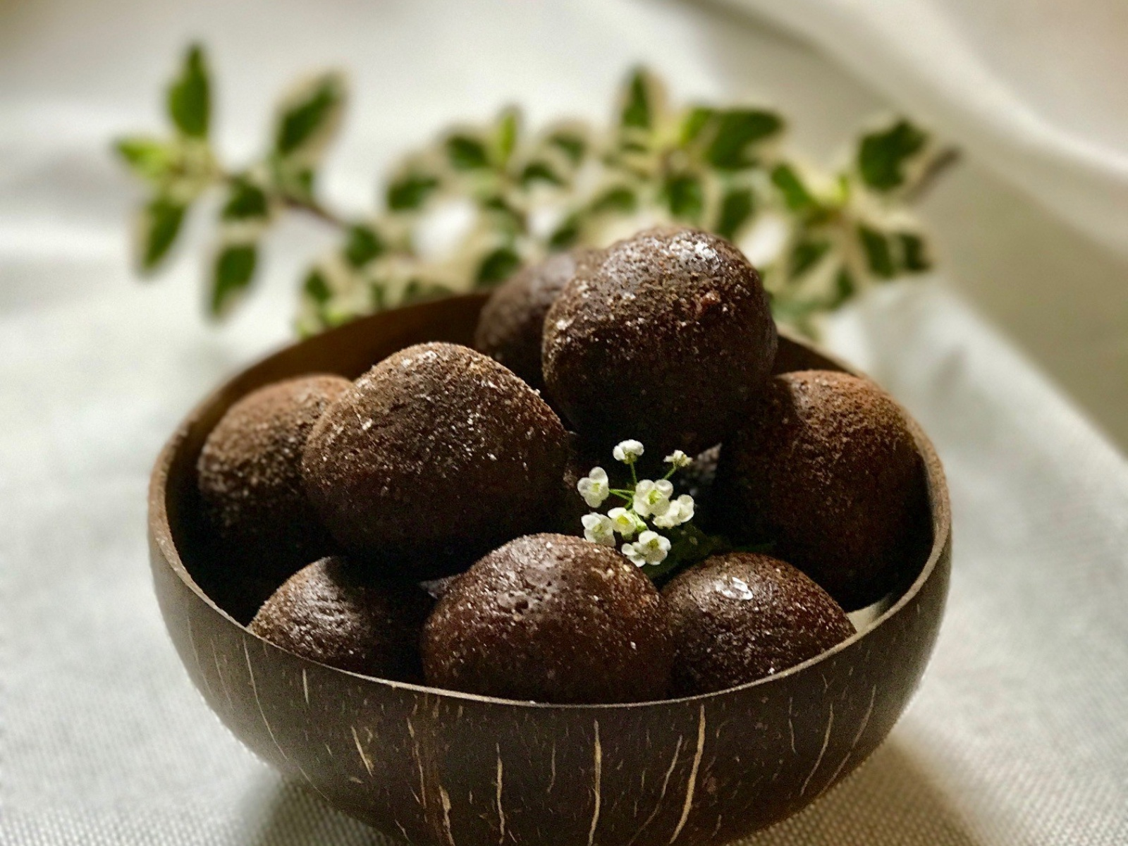 Vegan Chocolate Almond Energy Bites