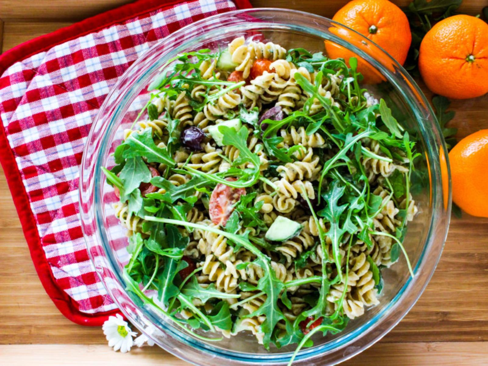 Vegan Creamy Arugula Pasta Salad