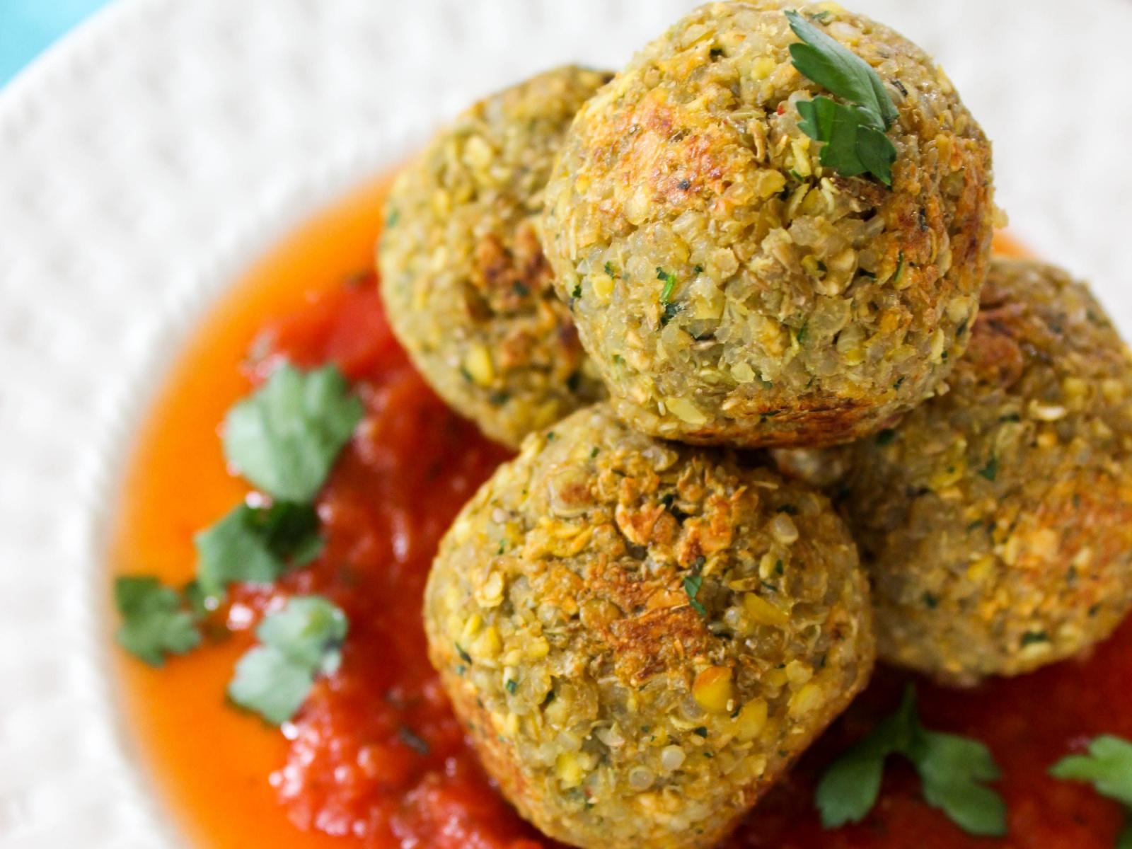 Quinoa Lentil Balls