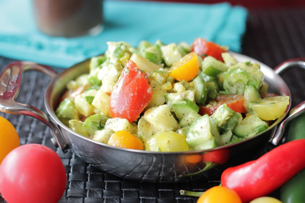 Vegan Roasted Corn and Avocado Salad