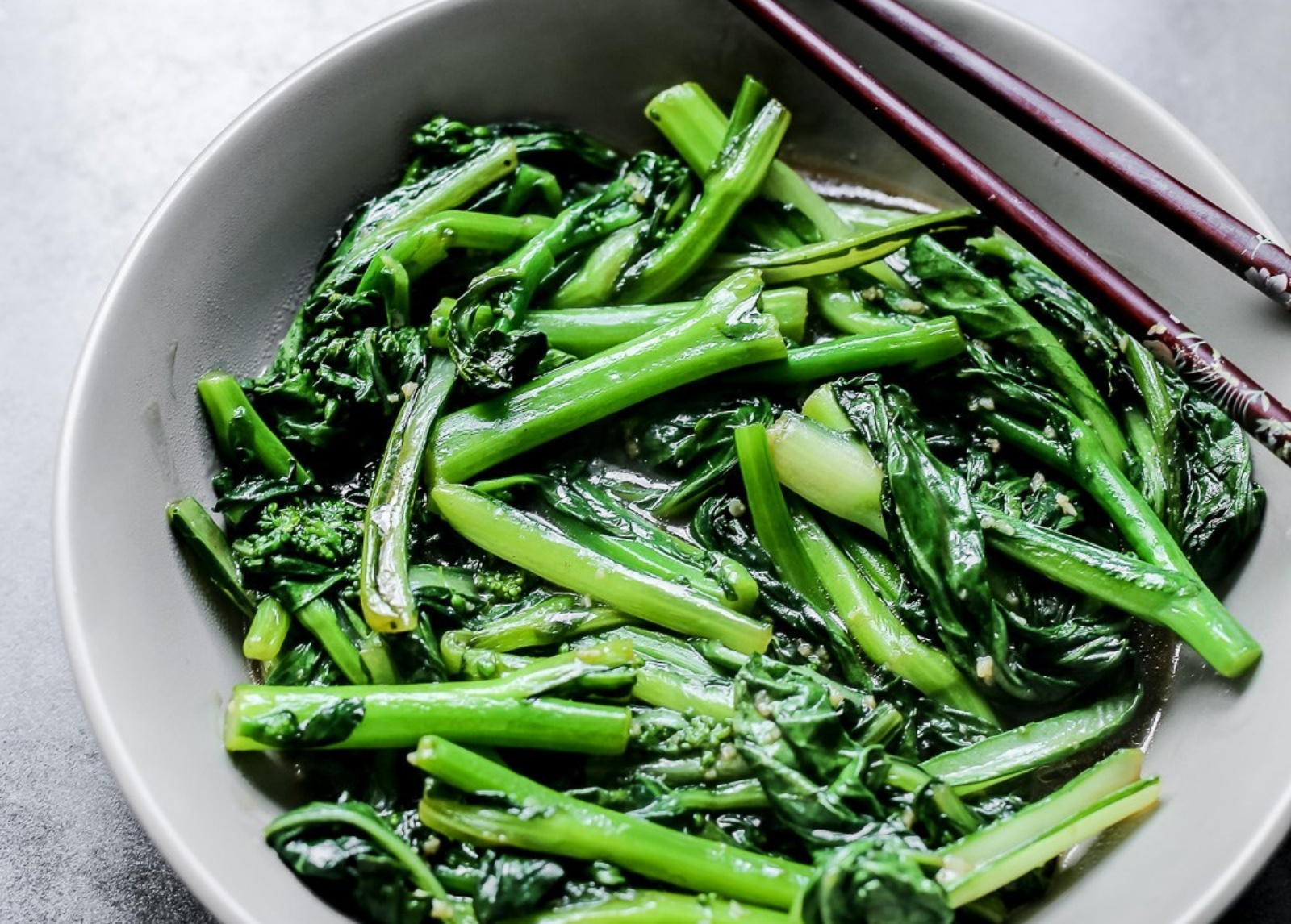 Vegan Stir-Fried Choy Sum with Minced Garlic